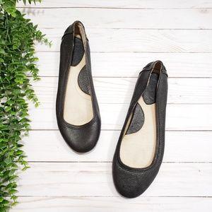 Frye Cassie Ballet Flats Black Leather
